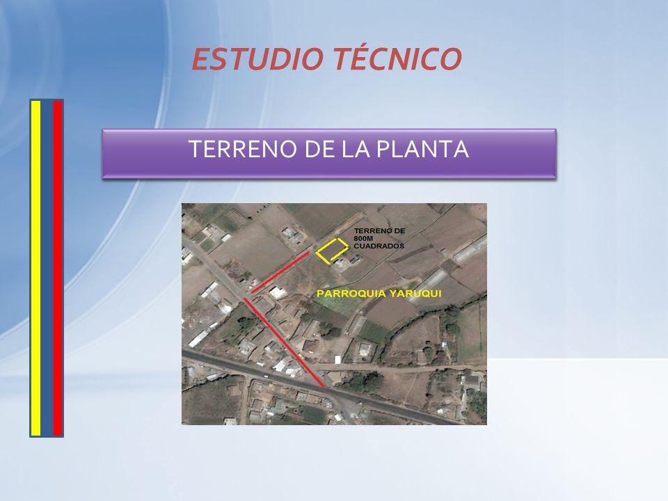 TERRENO DE LA PLANTA ESTUDIO TÉCNICO