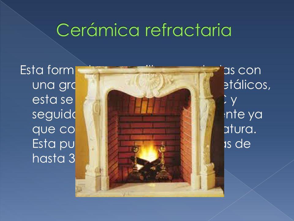 Se obtiene del calentamiento a altas temperaturas de materiales refinados tales como la arcilla.