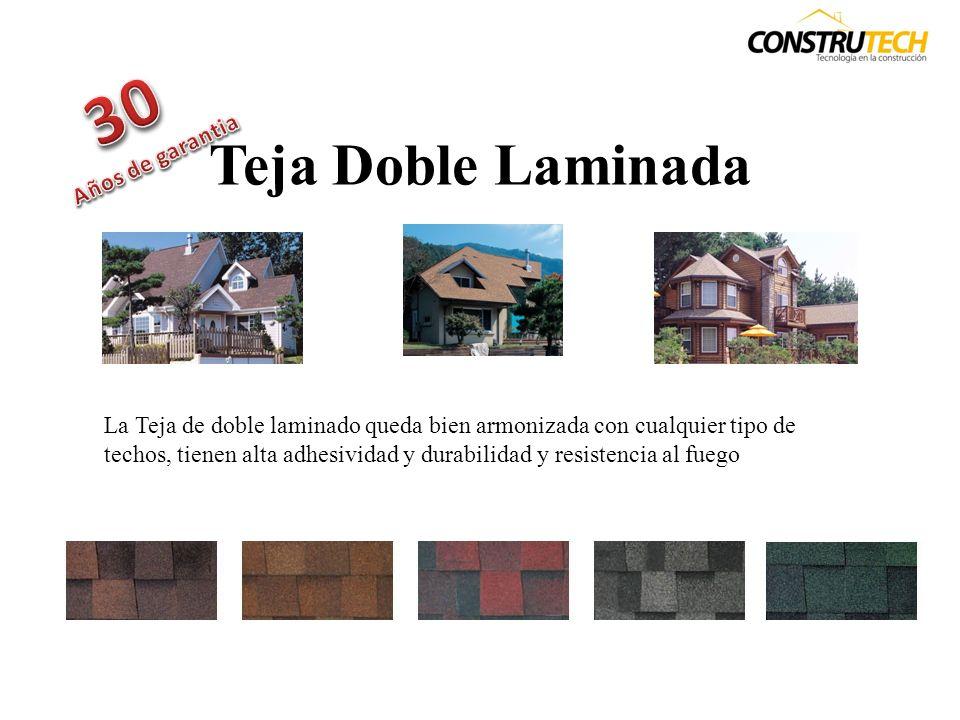 Teja de 3 Tablillas La Teja de 3 tablillas que bien armonizada con cualquier tipo de techos, tienen alta adhesividad y resistencia a la intemperie especialmente a tormenta con fuertes vientos.
