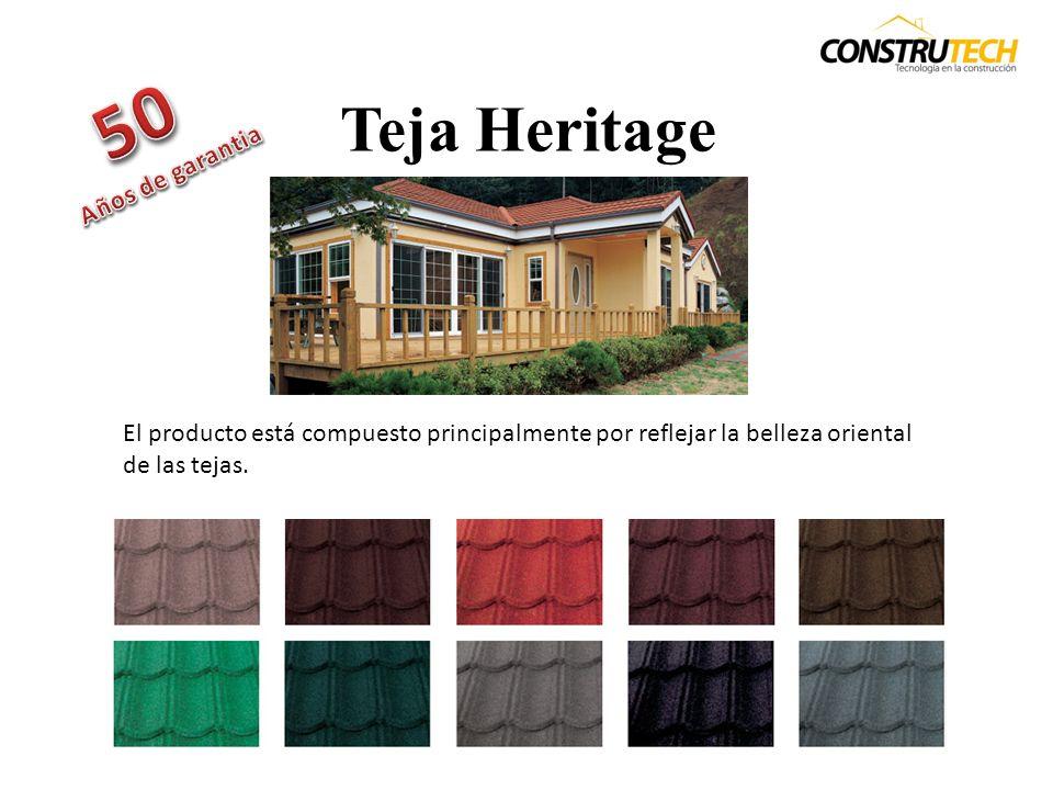 Teja Classic Esta teja se destaca por su diseño natural, su fácil instalación y por que su costo de mantención es de los mas bajos del mercado