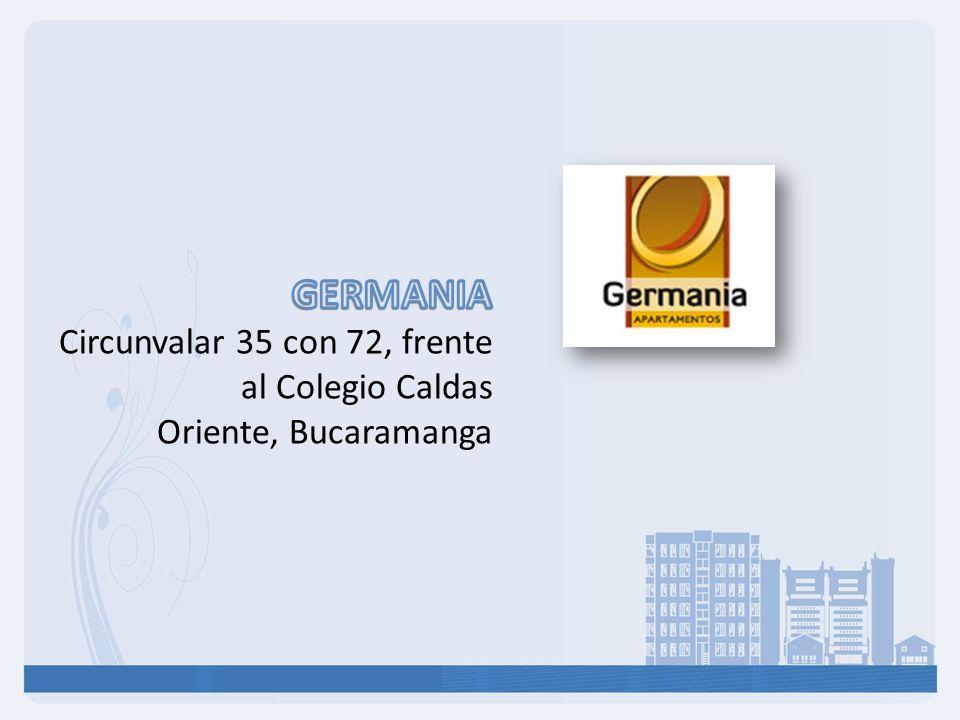 El proyecto GERMANIA Es un conjunto de 6 torres de 19 pisos, 432 apartamentos en total, 432 parqueaderos residenciales, 48 parqueaderos adicionales de residentes, 86 parqueaderos de visitantes.