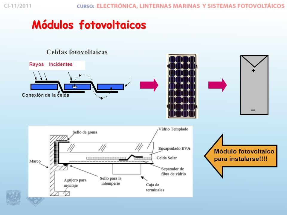 Arreglos fotovoltaicos Incrementando potencia: Los módulos se pueden conectar en serie ó en paralelo para incrementar la potencia de trabajo, y formar una nueva estructura llamada el arreglo fotovoltaico.