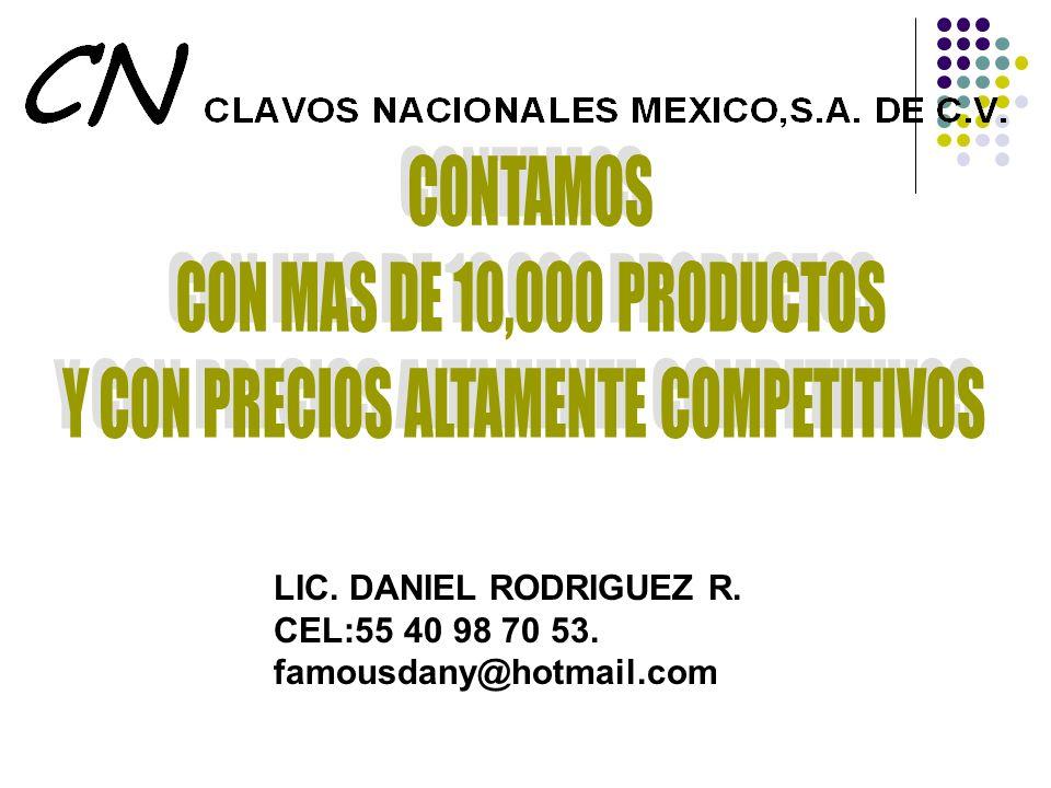 LIC. DANIEL RODRIGUEZ R. CEL:55 40 98 70 53. famousdany@hotmail.com