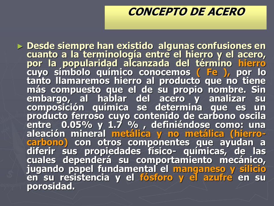 CLASIFICACIÓN GENERAL DEL ACERO.