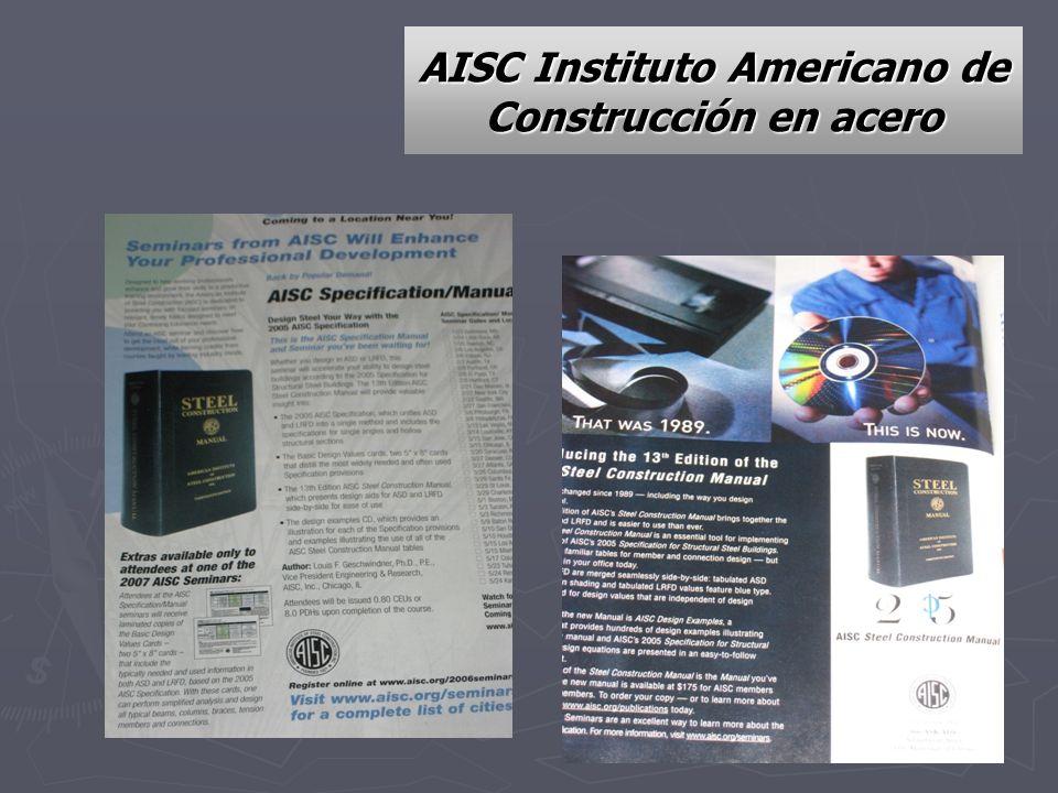 AISC Instituto Americano de Construcción en acero