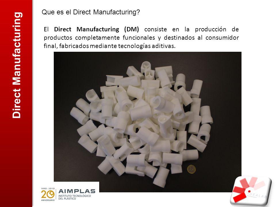 Direct Manufacturing Que es el Direct Manufacturing? El Direct Manufacturing (DM) consiste en la producción de productos completamente funcionales y d