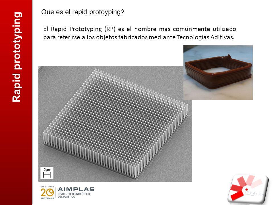 Rapid prototyping Tecnologías aditivas, que son y como funcionan.