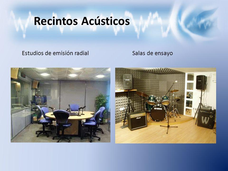 Recintos Acústicos Estudios de emisión radialSalas de ensayo