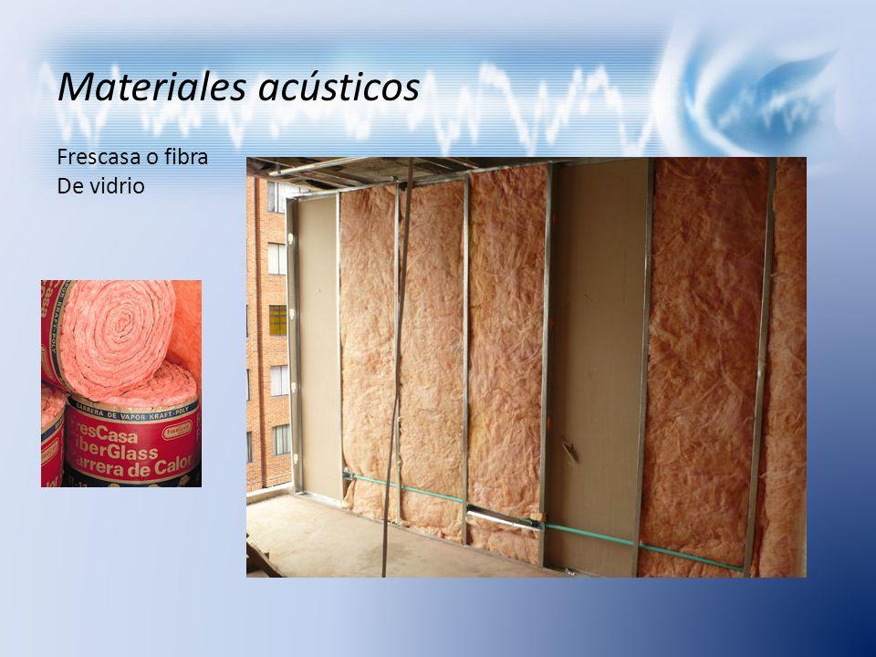 Materiales acústicos Frescasa o fibra De vidrio