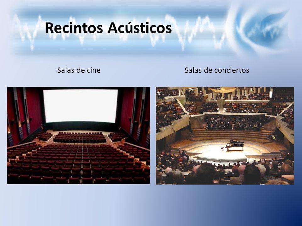 Recintos Acústicos Salas de cineSalas de conciertos