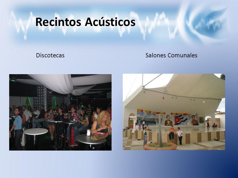 Recintos Acústicos Salones de clase Industrias con altos índices de emisión sonora