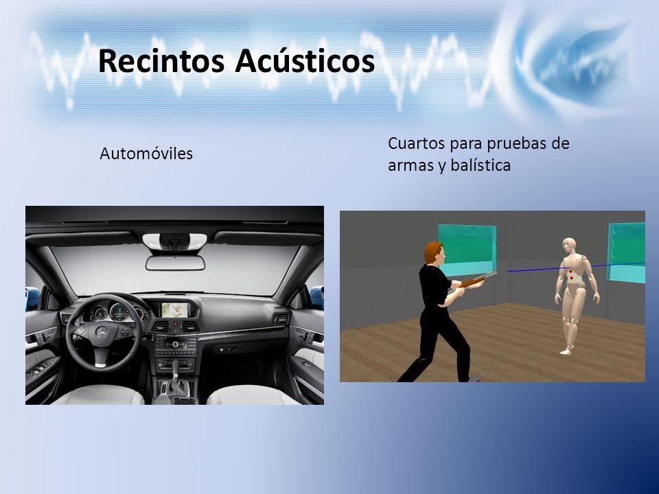 Recintos Acústicos Automóviles Cuartos para pruebas de armas y balística