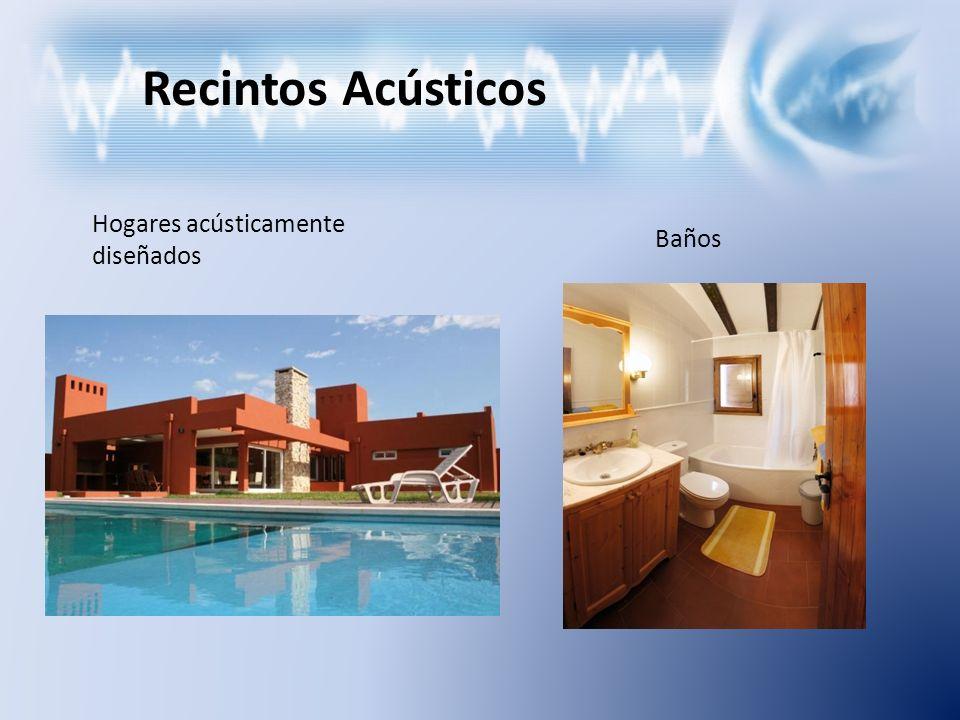 Recintos Acústicos Hogares acústicamente diseñados Baños