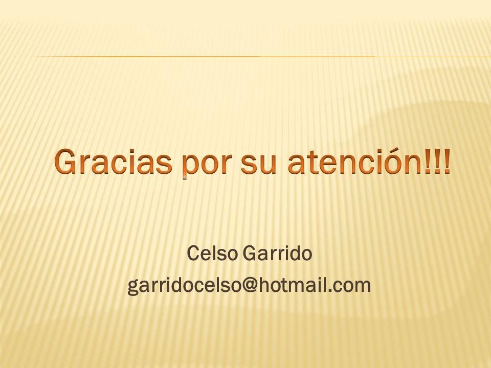 Celso Garrido garridocelso@hotmail.com
