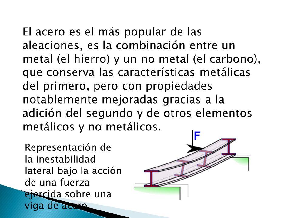El acero es el más popular de las aleaciones, es la combinación entre un metal (el hierro) y un no metal (el carbono), que conserva las característica