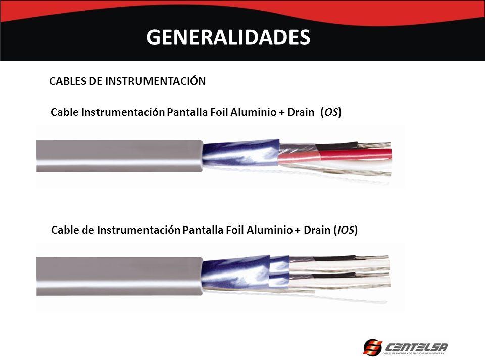CABLES DE INSTRUMENTACIÓN Cable Instrumentación Pantalla Foil Aluminio + Drain (OS) Cable de Instrumentación Pantalla Foil Aluminio + Drain (IOS) GENE