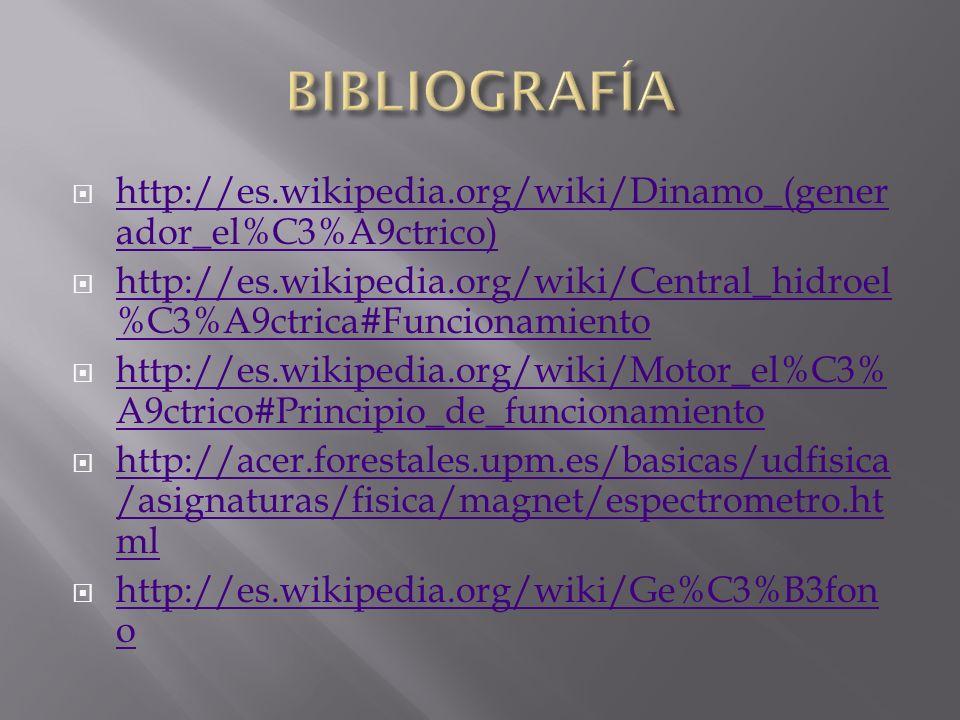 http://es.wikipedia.org/wiki/Dinamo_(gener ador_el%C3%A9ctrico) http://es.wikipedia.org/wiki/Dinamo_(gener ador_el%C3%A9ctrico) http://es.wikipedia.or