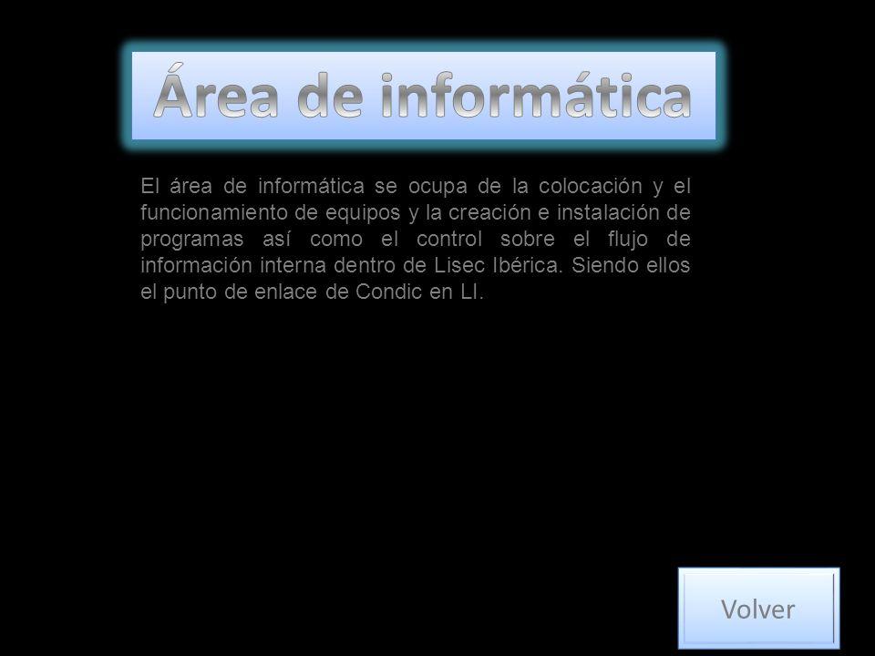 El área de informática se ocupa de la colocación y el funcionamiento de equipos y la creación e instalación de programas así como el control sobre el flujo de información interna dentro de Lisec Ibérica.