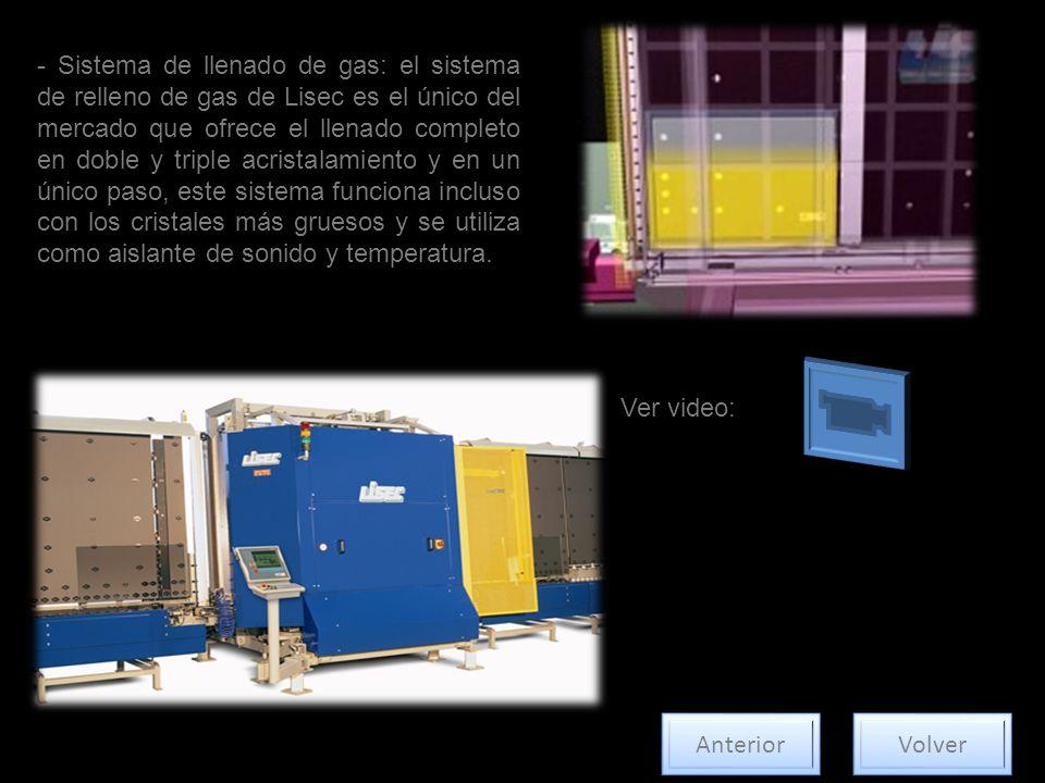 - Sistema de llenado de gas: el sistema de relleno de gas de Lisec es el único del mercado que ofrece el llenado completo en doble y triple acristalam