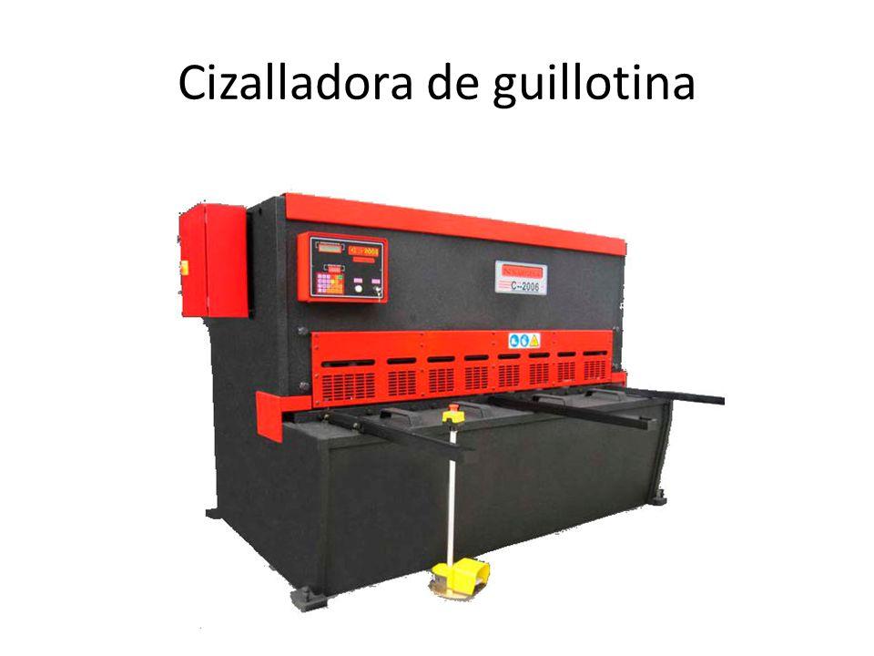 Cizalladora de guillotina