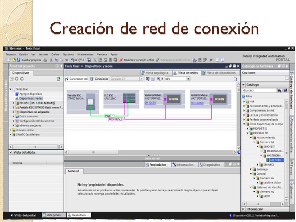 Creación de red de conexión
