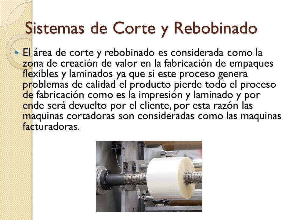 Sistemas de Corte y Rebobinado El área de corte y rebobinado es considerada como la zona de creación de valor en la fabricación de empaques flexibles