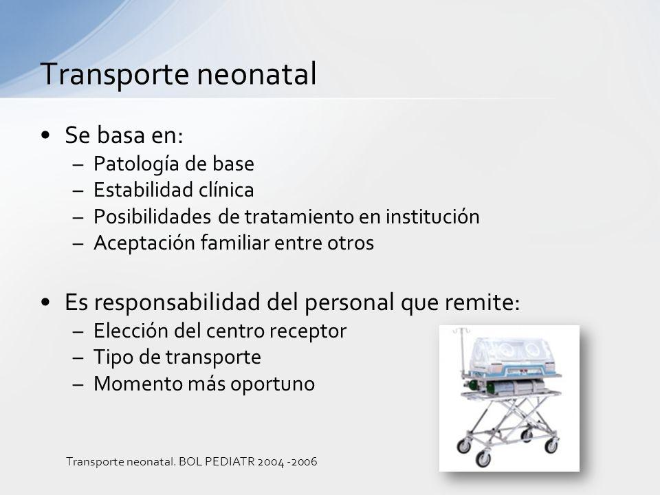 Se basa en: –Patología de base –Estabilidad clínica –Posibilidades de tratamiento en institución –Aceptación familiar entre otros Es responsabilidad d