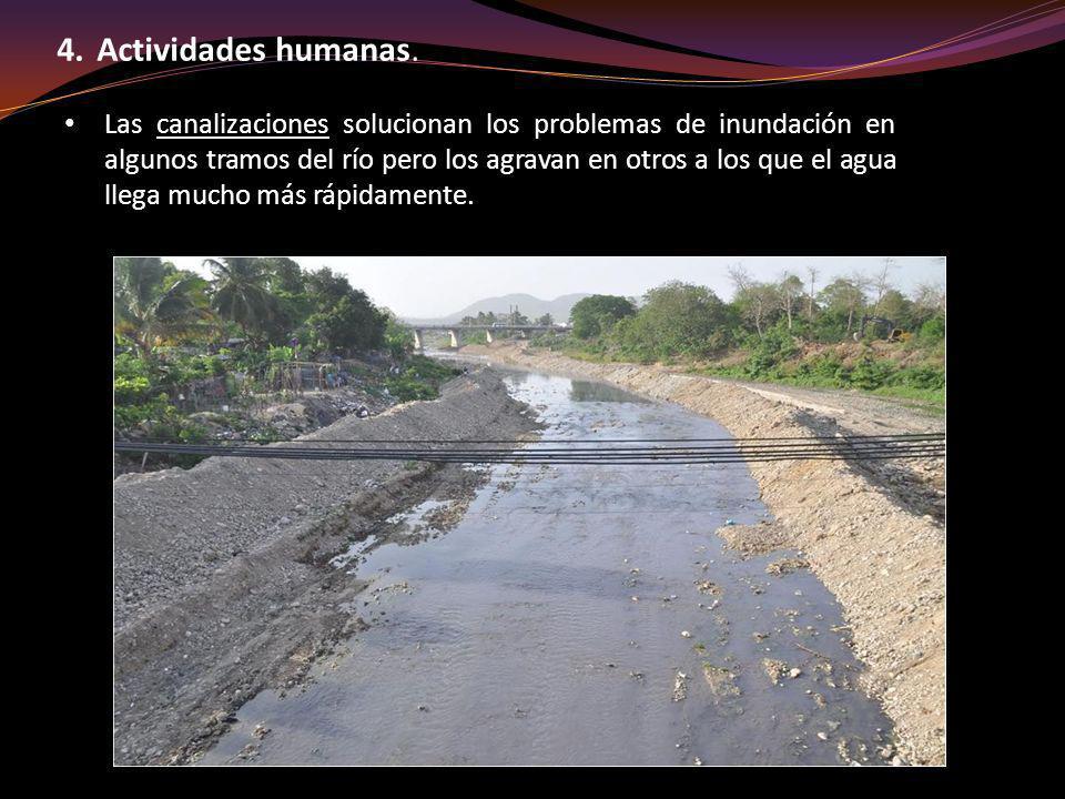 Las canalizaciones solucionan los problemas de inundación en algunos tramos del río pero los agravan en otros a los que el agua llega mucho más rápida