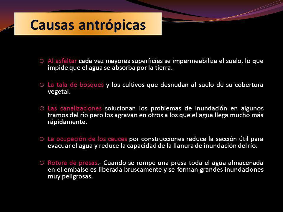 Aunque no frecuentes en España, son causa de inundaciones en otros países las coladas de barro que se forman en las erupciones de los volcanes.