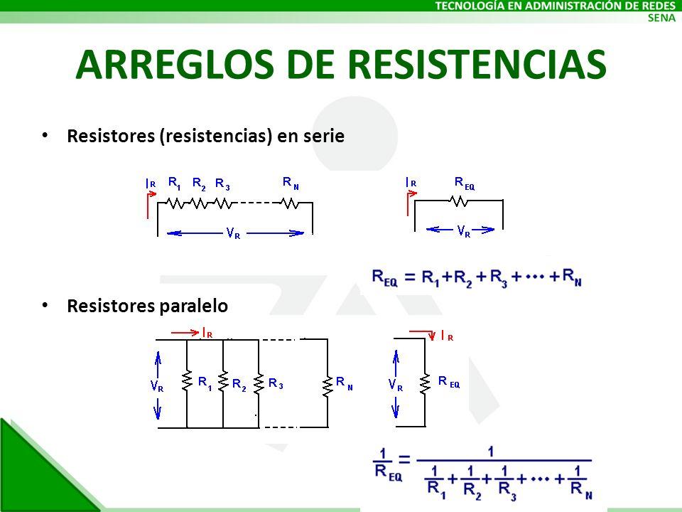 ARREGLOS DE RESISTENCIAS Resistores (resistencias) en serie Resistores paralelo