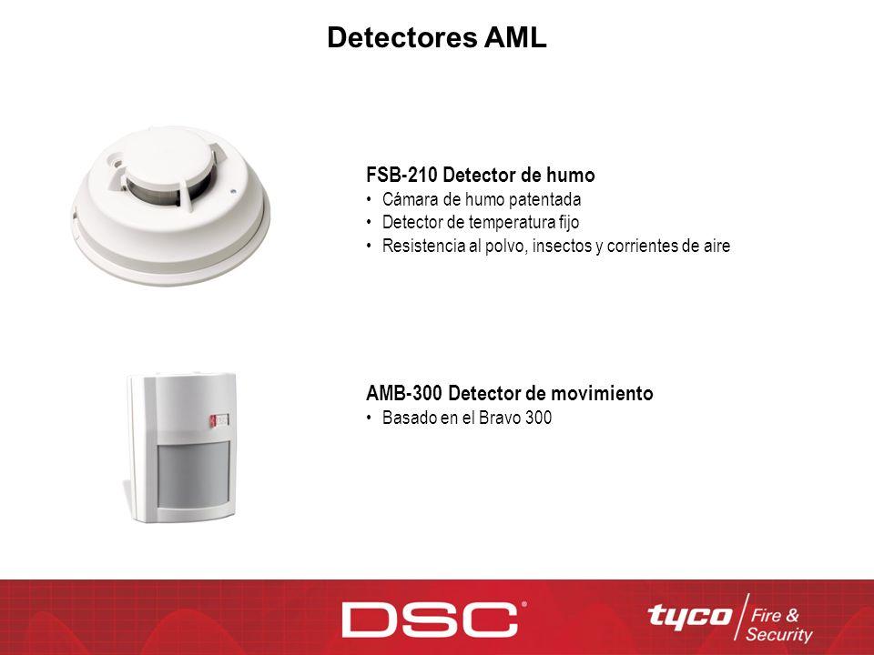 Detectores AML FSB-210 Detector de humo Cámara de humo patentada Detector de temperatura fijo Resistencia al polvo, insectos y corrientes de aire AMB-