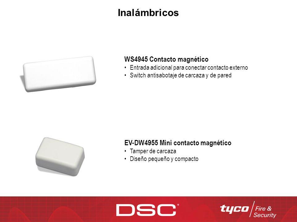 WS4945 Contacto magnético Entrada adicional para conectar contacto externo Switch antisabotaje de carcaza y de pared EV-DW4955 Mini contacto magnético