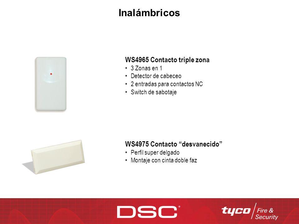 WS4965 Contacto triple zona 3 Zonas en 1 Detector de cabeceo 2 entradas para contactos NC Switch de sabotaje WS4975 Contacto desvanecido Perfil super