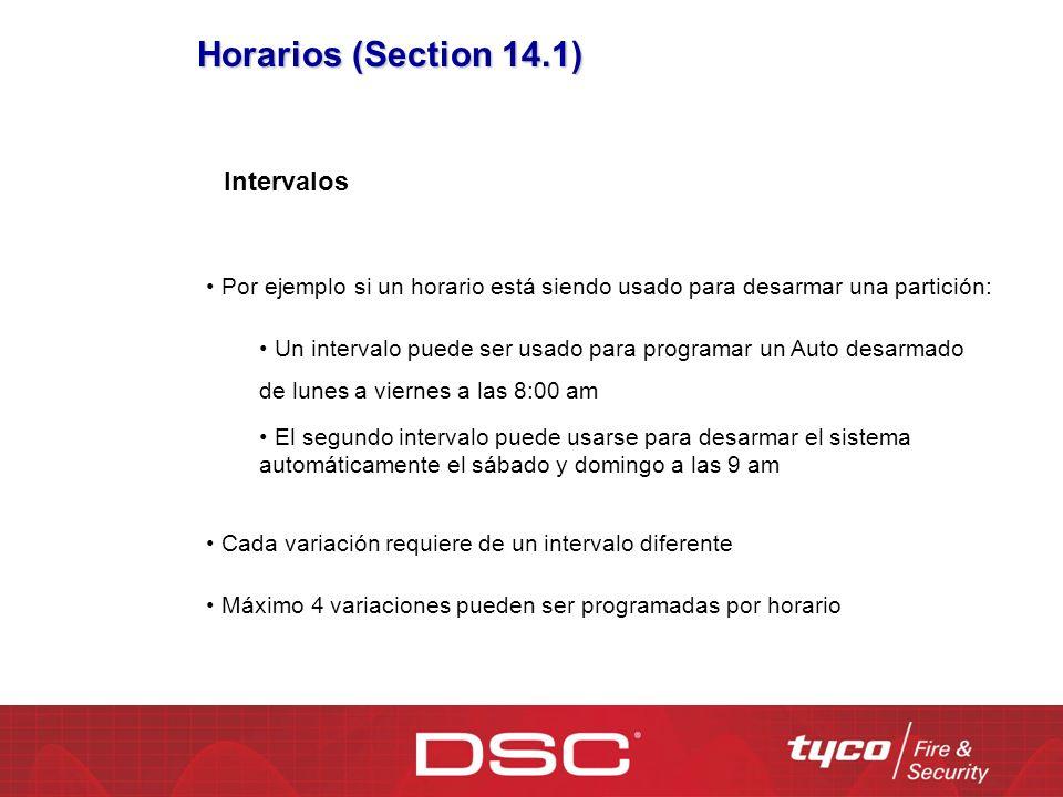 Horarios (Section 14.1) Intervalos Por ejemplo si un horario está siendo usado para desarmar una partición: Un intervalo puede ser usado para programa