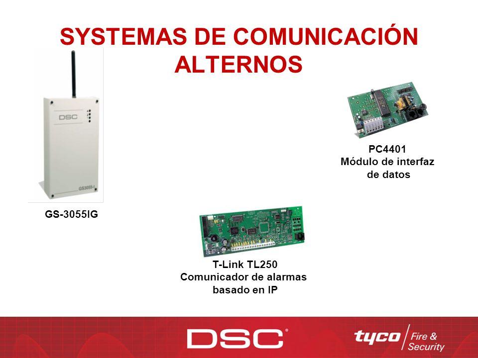 SYSTEMAS DE COMUNICACIÓN ALTERNOS GS-3055IG PC4401 Módulo de interfaz de datos T-Link TL250 Comunicador de alarmas basado en IP