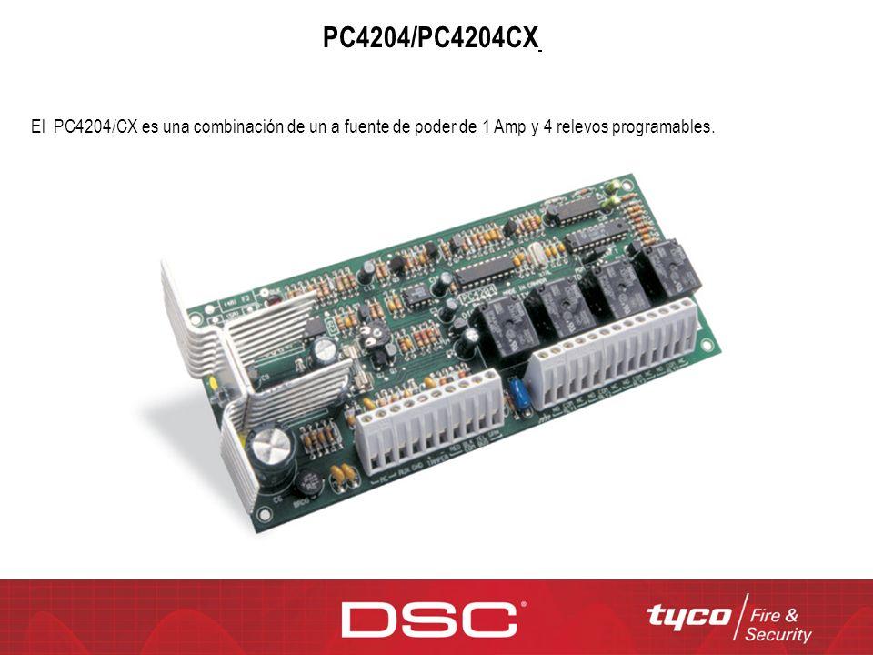 PC4204/PC4204CX / El PC4204/CX es una combinación de un a fuente de poder de 1 Amp y 4 relevos programables.