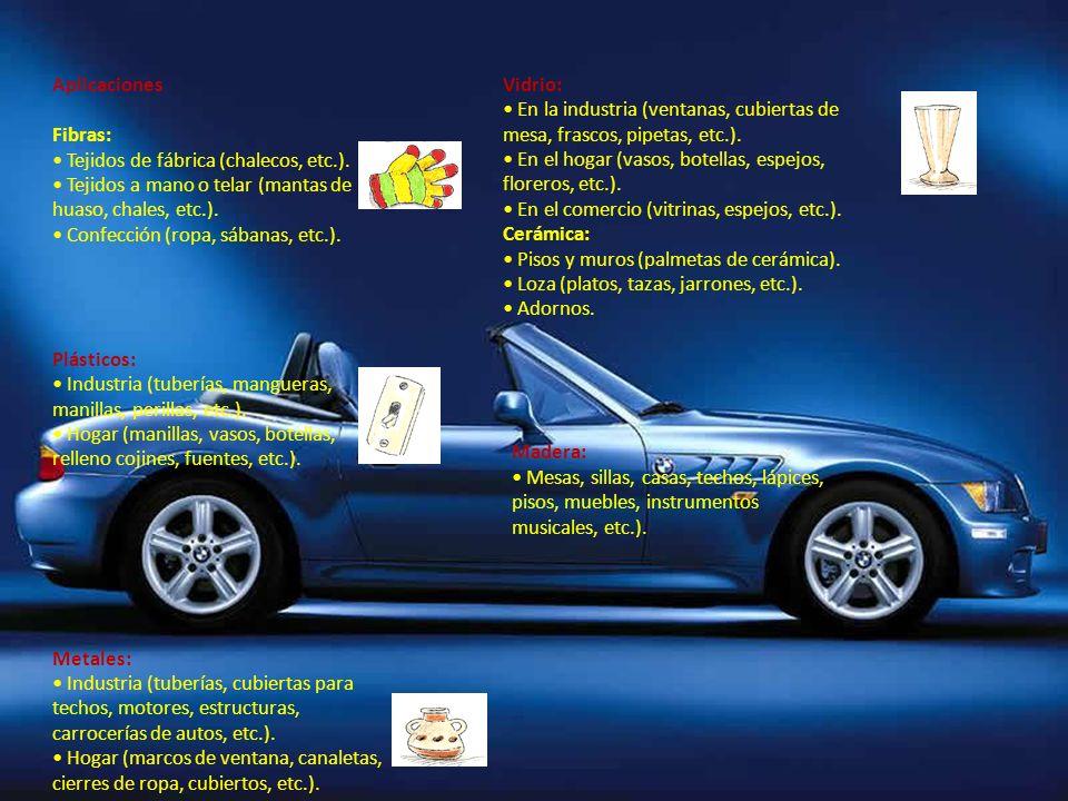 Aplicaciones Fibras: Tejidos de fábrica (chalecos, etc.).