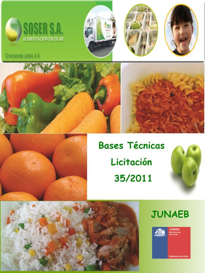 Bases Técnicas Licitación 35/2011 JUNAEB