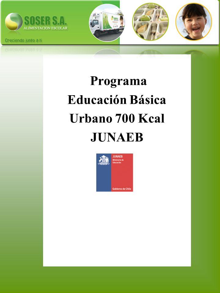 Programa Educación Básica Urbano 700 Kcal JUNAEB