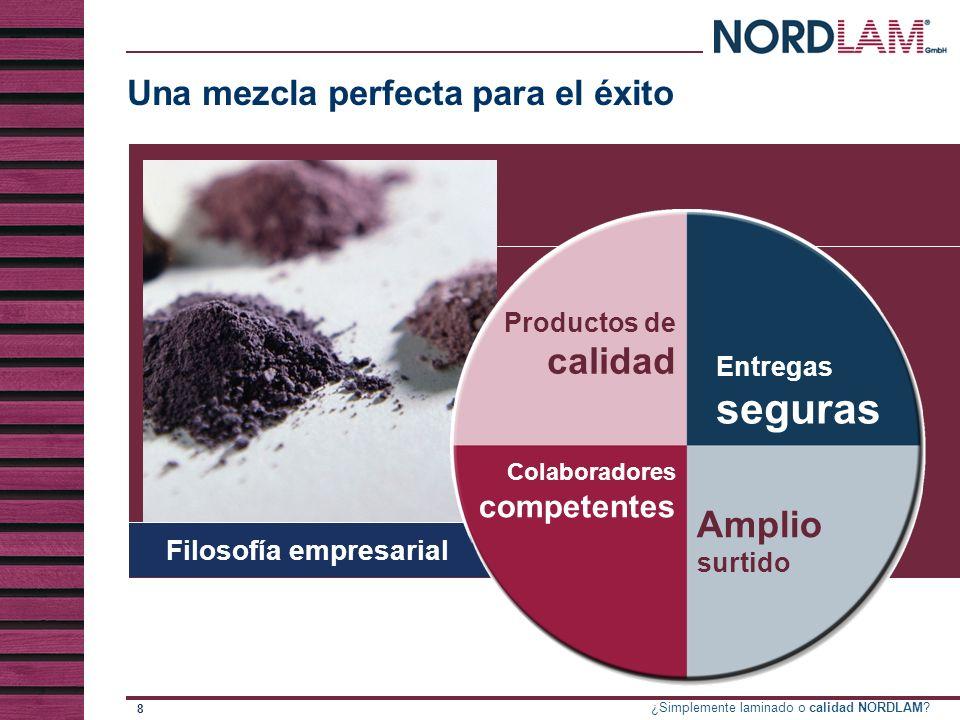 ¿Simplemente laminado o calidad NORDLAM.19 fiabilidad Alcanzar los objetivos...