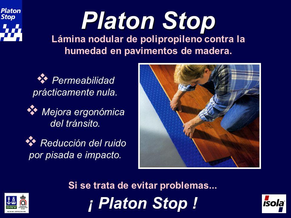 Platon Stop Lámina nodular de polipropileno contra la humedad en pavimentos de madera.