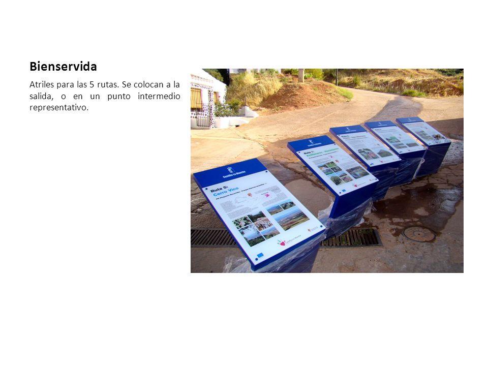 Bienservida Atriles para las 5 rutas. Se colocan a la salida, o en un punto intermedio representativo.