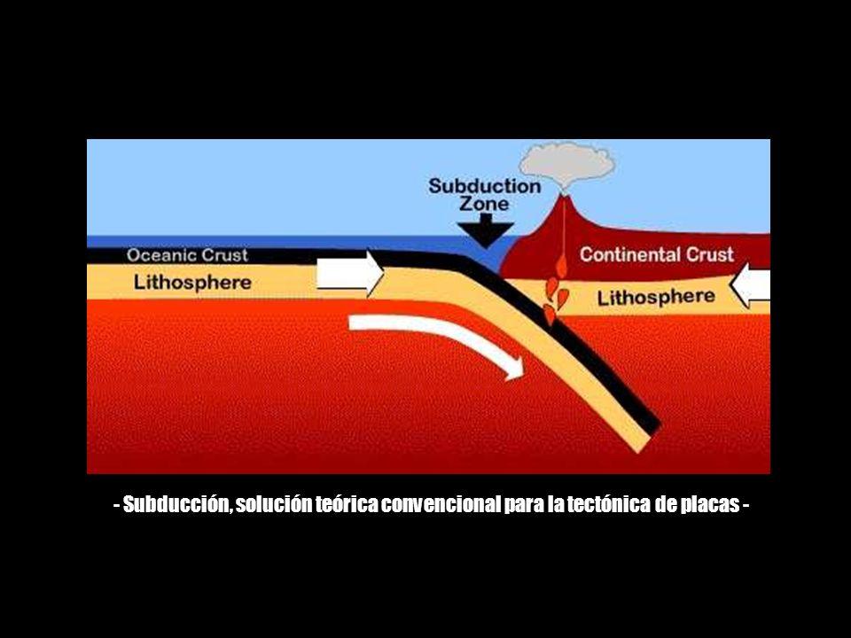 La hipótesis de la Tierra en Expansión se basa en las mismas evidencias utilizadas por la tectónica de placas, pero a diferencia de la deriva continental, que postula que los continentes son movidos de manera aleatoria alrededor de la superficie de la Tierra conforme nuevo fondo marino se va creando en las dorsales oceánicas y se va consumiendo en las zonas de subducción, en la hipótesis de la Tierra en Expansión se postula que no existen zonas de subducción, por lo que la Tierra se expande en tamaño conforme el nuevo suelo oceánico se va generando.