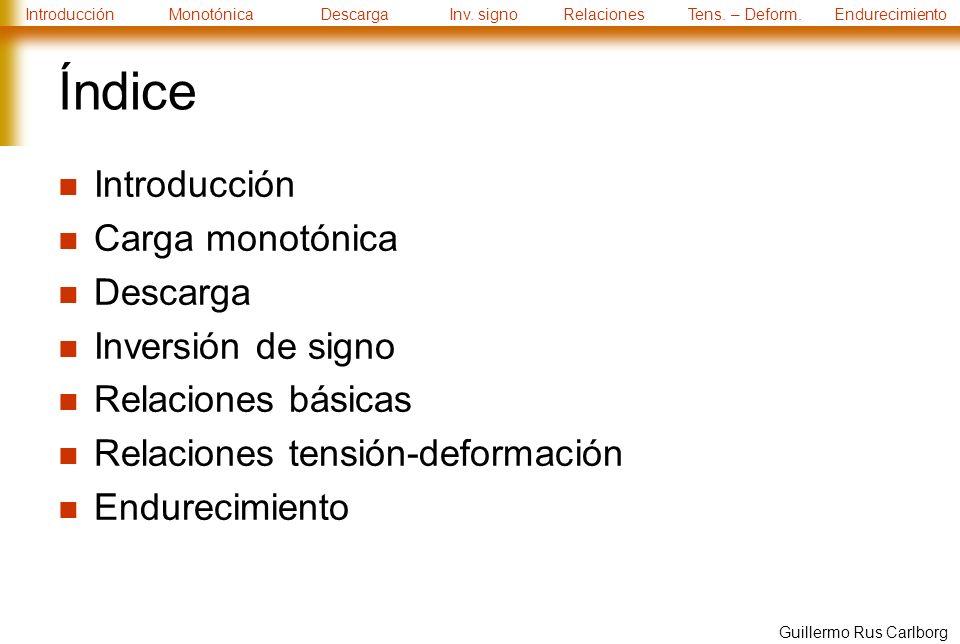 IntroducciónMonotónicaDescargaInv.signoRelacionesTens.