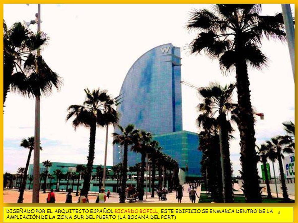 DISEÑADO POR EL ARQUITECTO ESPAÑOL RICARDO BOFILL, ESTE EDIFICIO SE ENMARCA DENTRO DE LA AMPLIACIÓN DE LA ZONA SUR DEL PUERTO (LA BOCANA DEL PORT) 4
