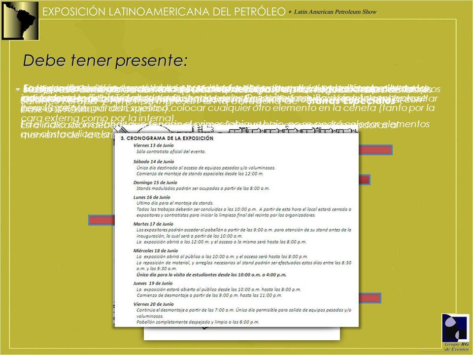 - - Todos los stands ubicados en el Salón Venezuela y en las islas centrales de los Salones Europa y América ingresan en la categoría de Stands Especi
