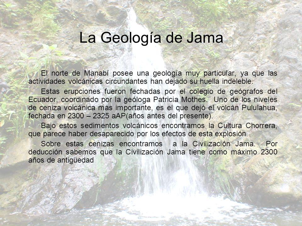 El norte de Manabí posee una geología muy particular, ya que las actividades volcánicas circundantes han dejado su huella indeleble. Estas erupciones