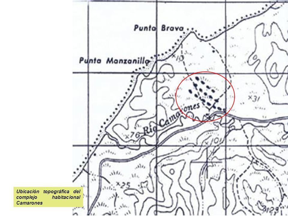 Ubicación topográfica del complejo habitacional Camarones