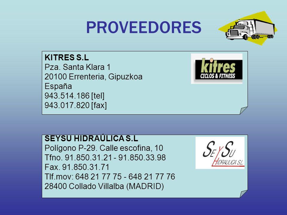 PROVEEDORES KITRES S.L Pza.
