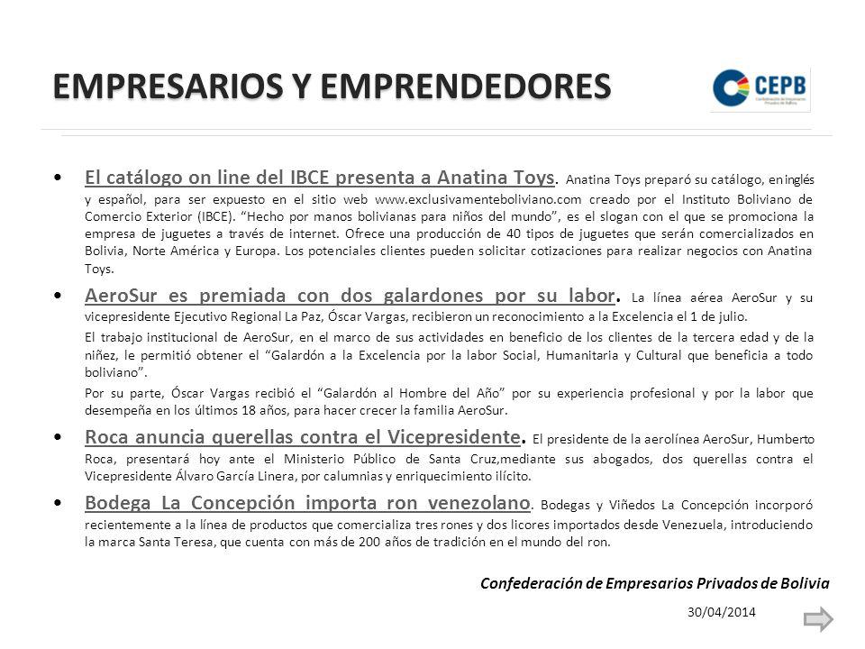 EMPRESARIOS Y EMPRENDEDORES El catálogo on line del IBCE presenta a Anatina Toys.
